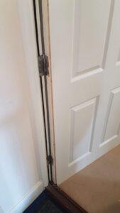 Lock needs installing on wooden door